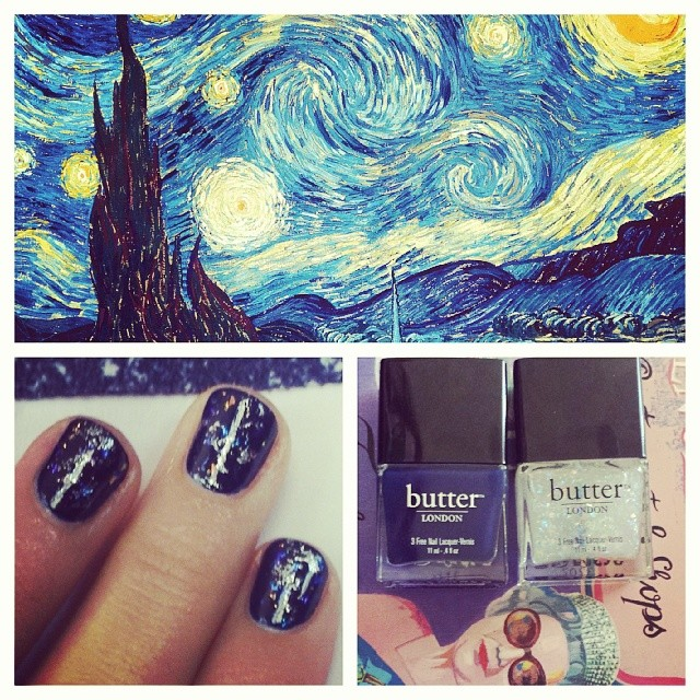 Get the Look: Emmy Rossum's Starry Night Inspired Mani by Butter London