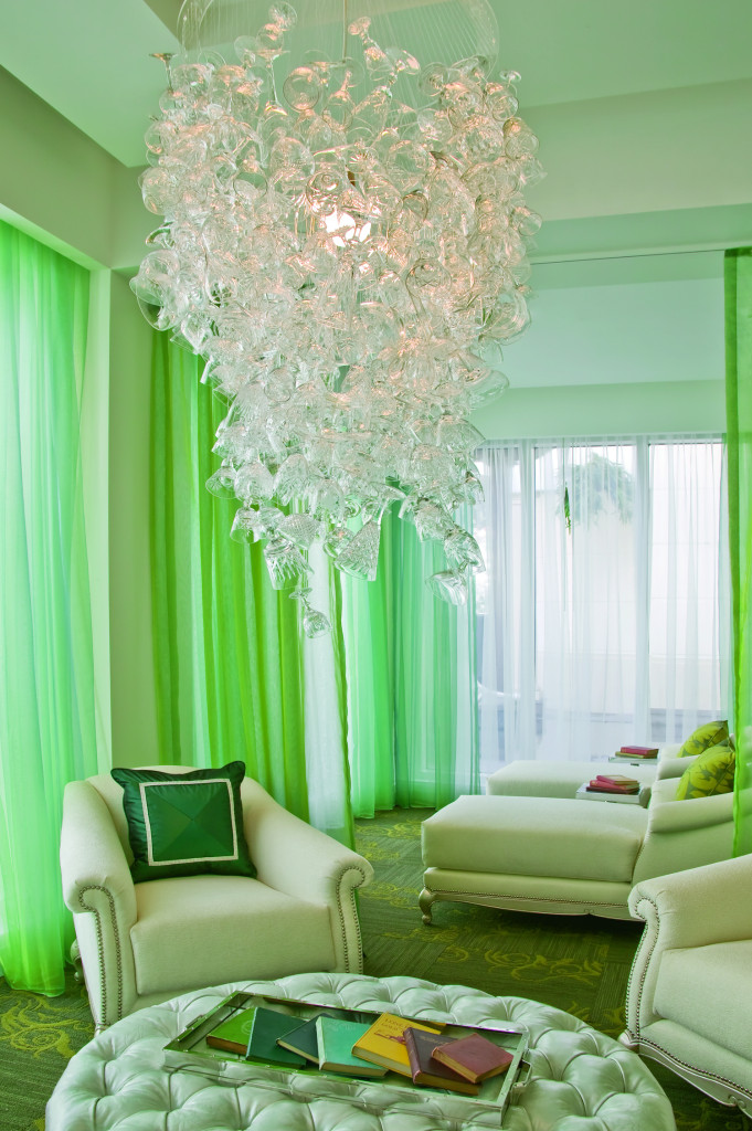eau zone chair & chandelier